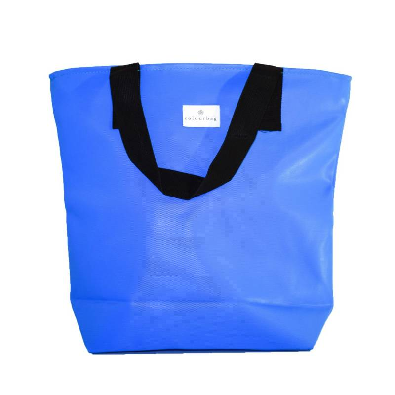Soothing Blue- ZIPPER TOTEBAG