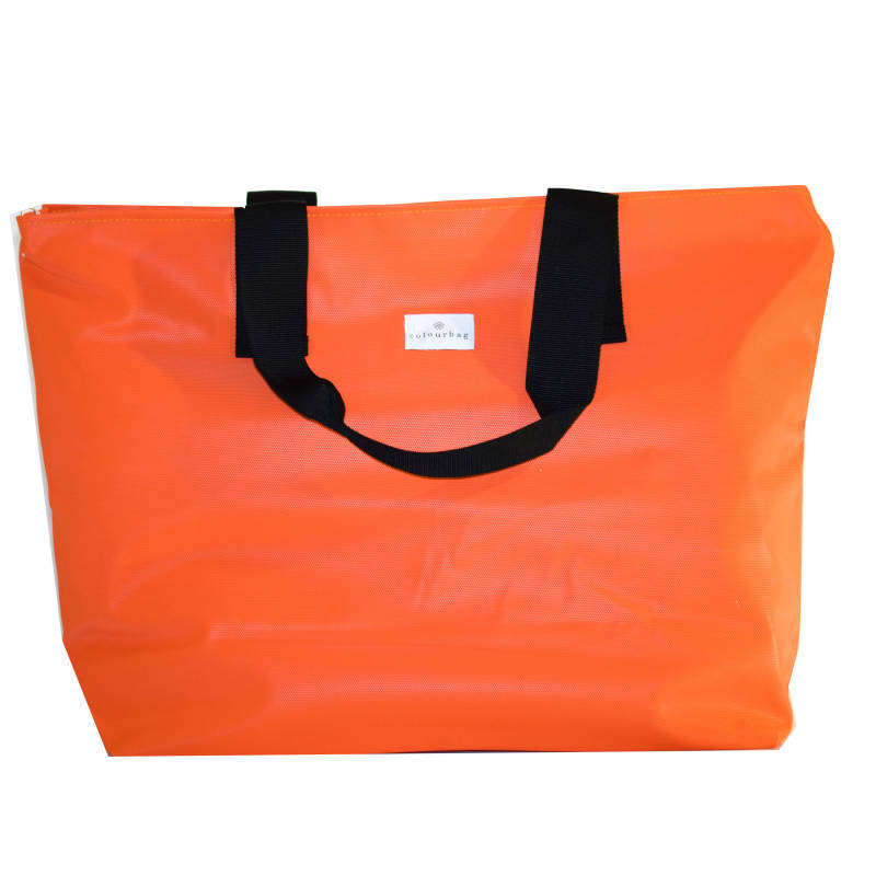 Optimistic Orange - ZIPPER TOTEBAG XL
