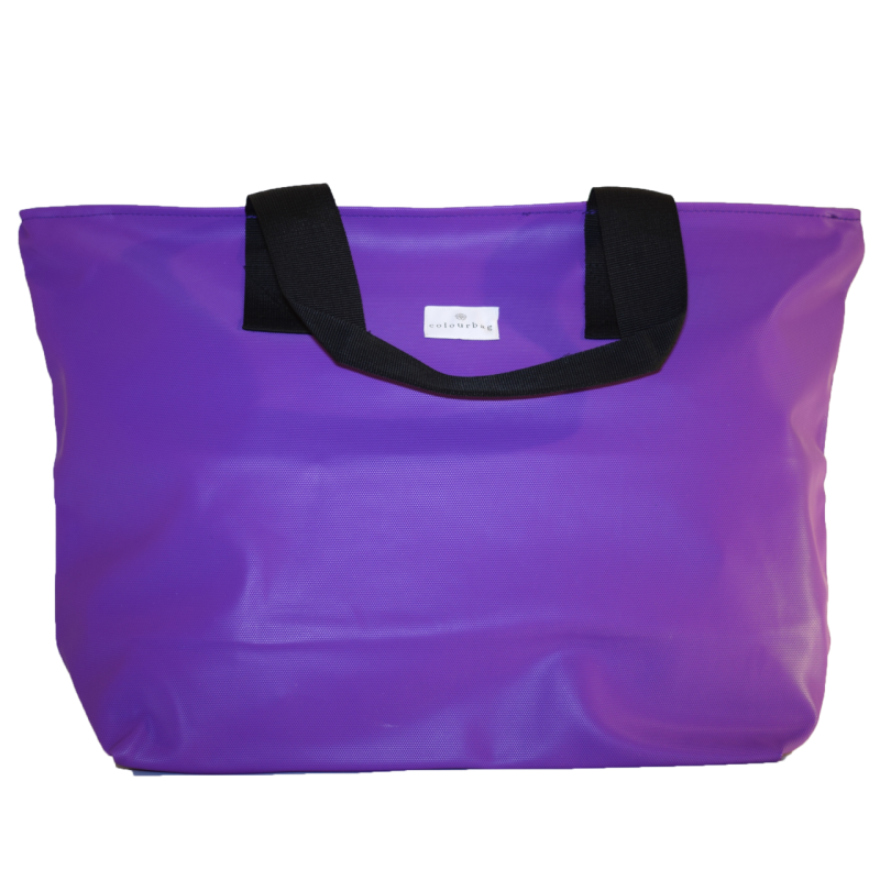 Bubbly Purple - ZIPPER TOTEBAG XL