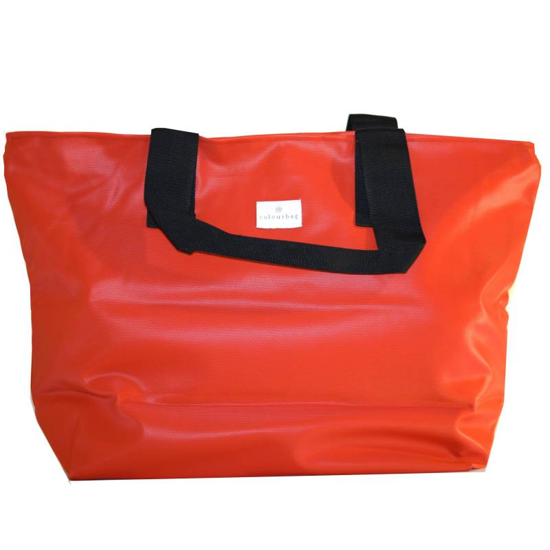 Fiery Red - ZIPPER TOTEBAG XL