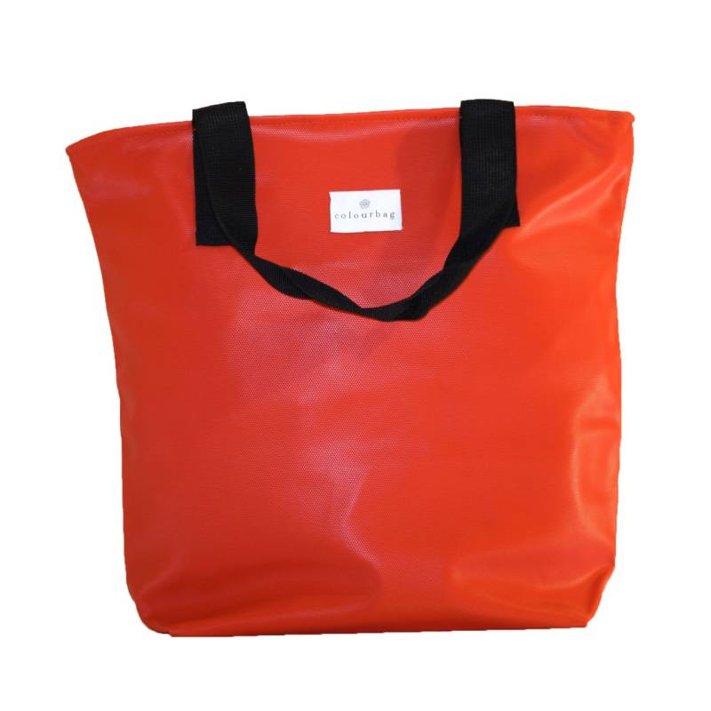 Fiery Red - ZIPPER TOTEBAG