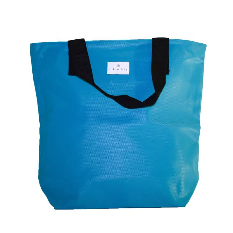 Bright Turquoise - ZIPPER TOTEBAG
