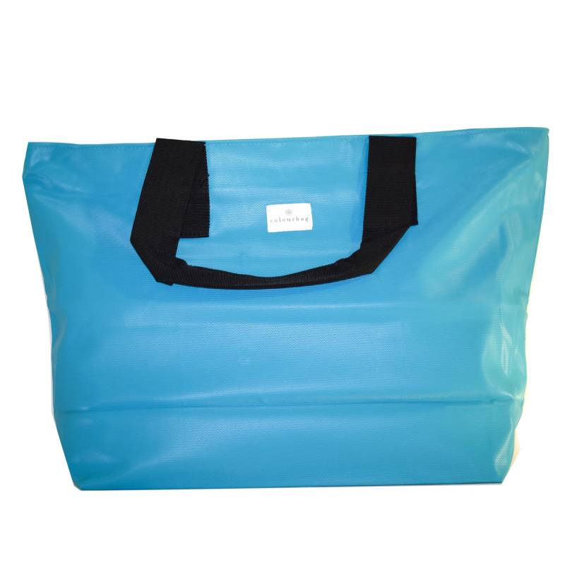 Bright Turquoise - ZIPPER TOTEBAG XL