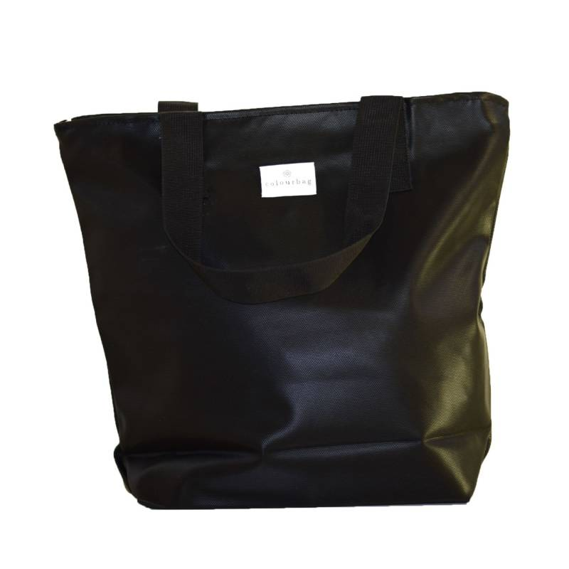 Inspiring Black - ZIPPER TOTEBAG
