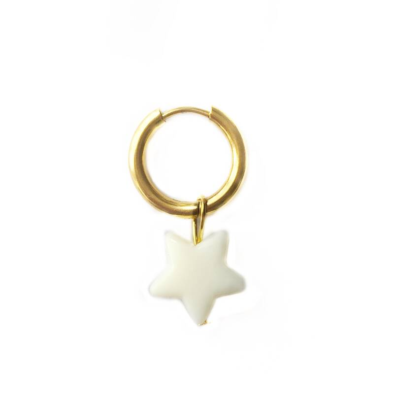 Starry night hoops goud-crème (one piece)