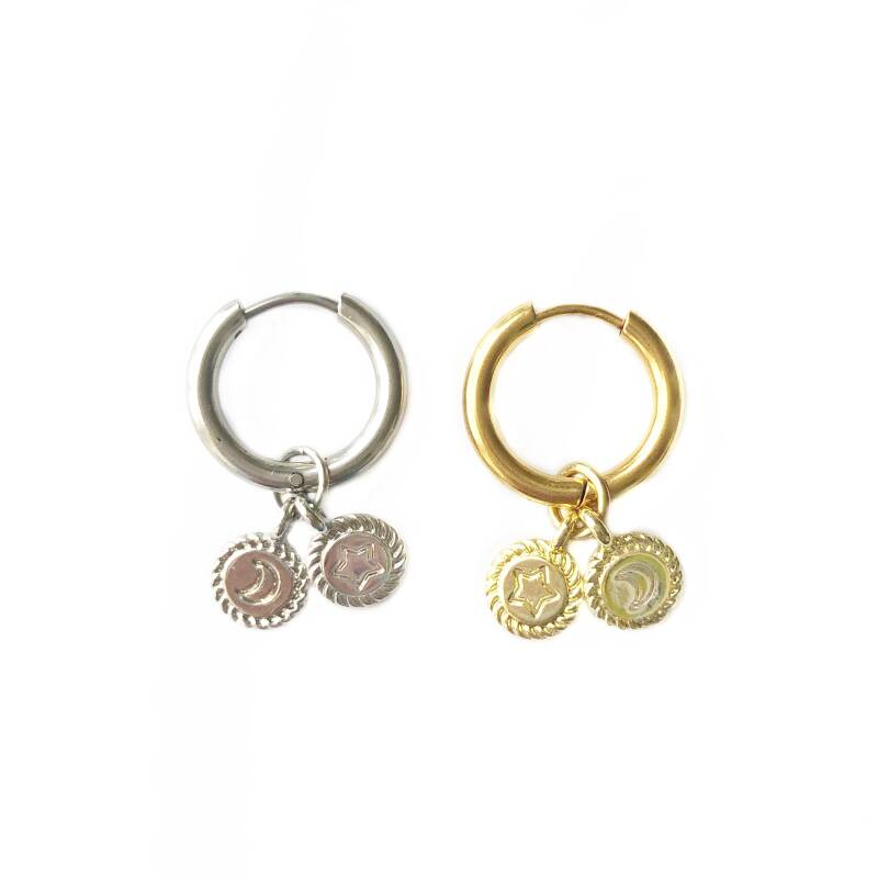 Double coins hoops (one piece)