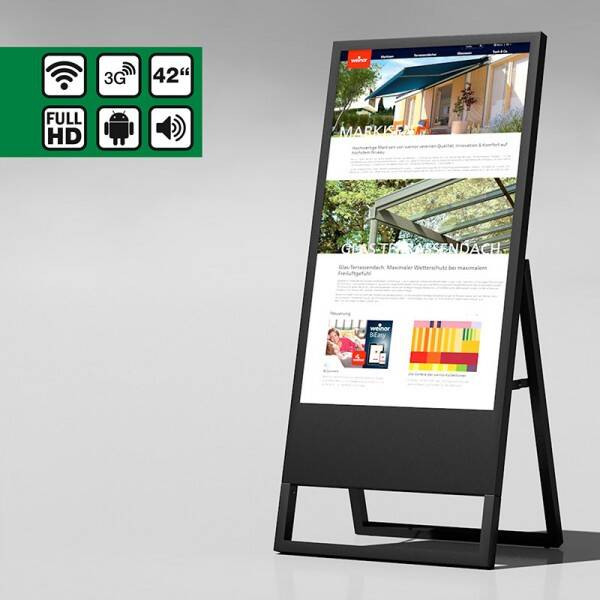 "D-Stand 43""inch intelligent digital signage"