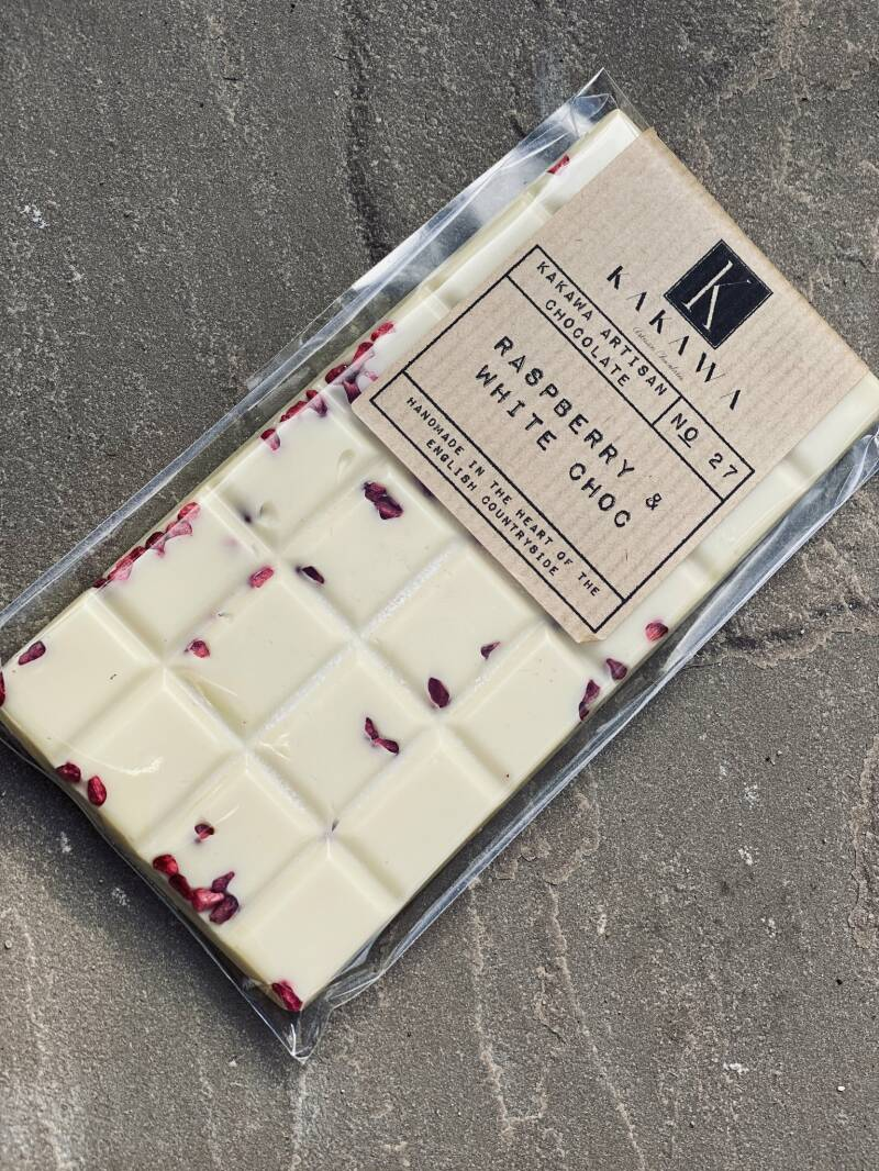Signature Bar No 27 Raspberry & White Chocolate 100gr