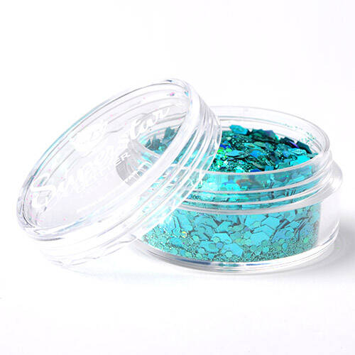 Superstar Chunky Glitter Mix Laser Turquoise
