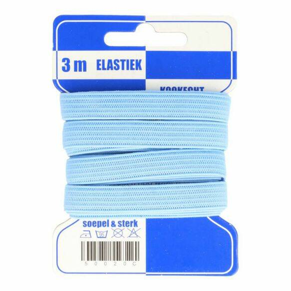 elastiek soft l. blauw 10 mm x 3 m  kl259 1 + 1 GRATIS