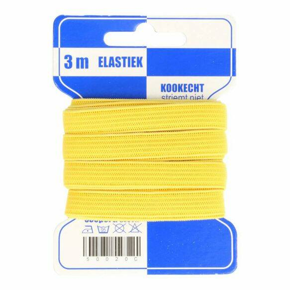 elastiek soft geel 10mm x 3m 645 1 + 1 GRATIS