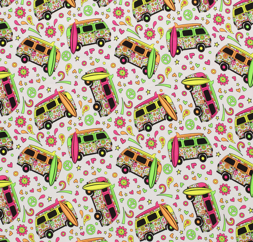 TRICOT PRINTED WITH VEHICLES OPTICAL WHITE