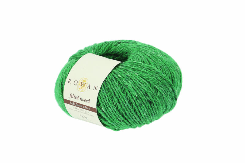 Felted tweed electric green 203
