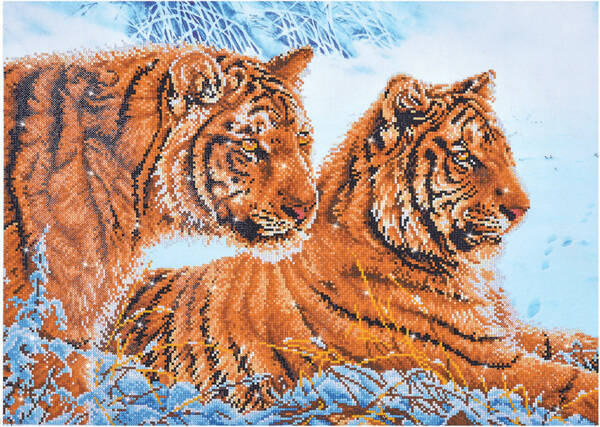 DD12.026 tigers in the snow 72x52