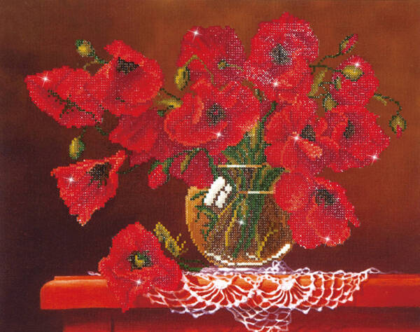 DD9.002 red poppies 50x40