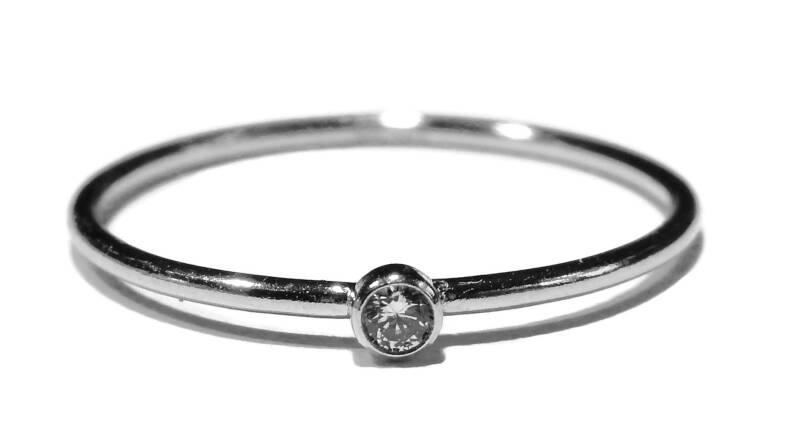 stackring silver 1 mm white RSS3