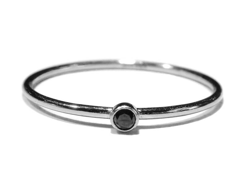stackring silver 1 mm black RSS9