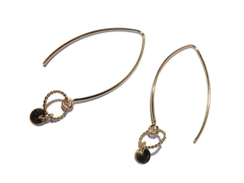 earrings disc on twisted ring E1110