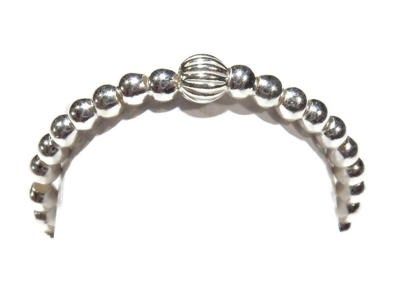 flexring 2 mm silver with patterned bead RF571