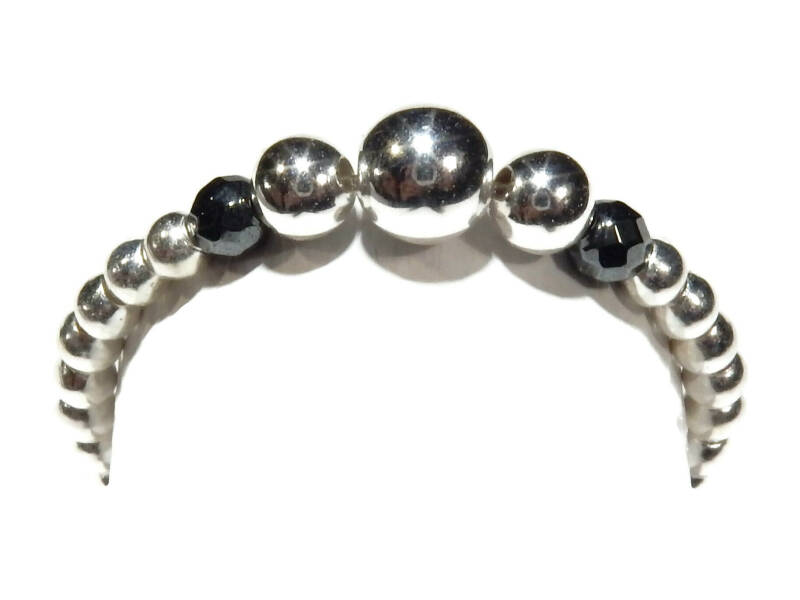 flexring 2 mm silver with a touch of hematite RF524