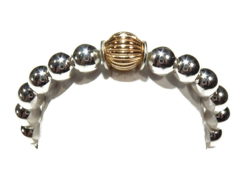 flexring 3 mm silver with patterned bead RF554