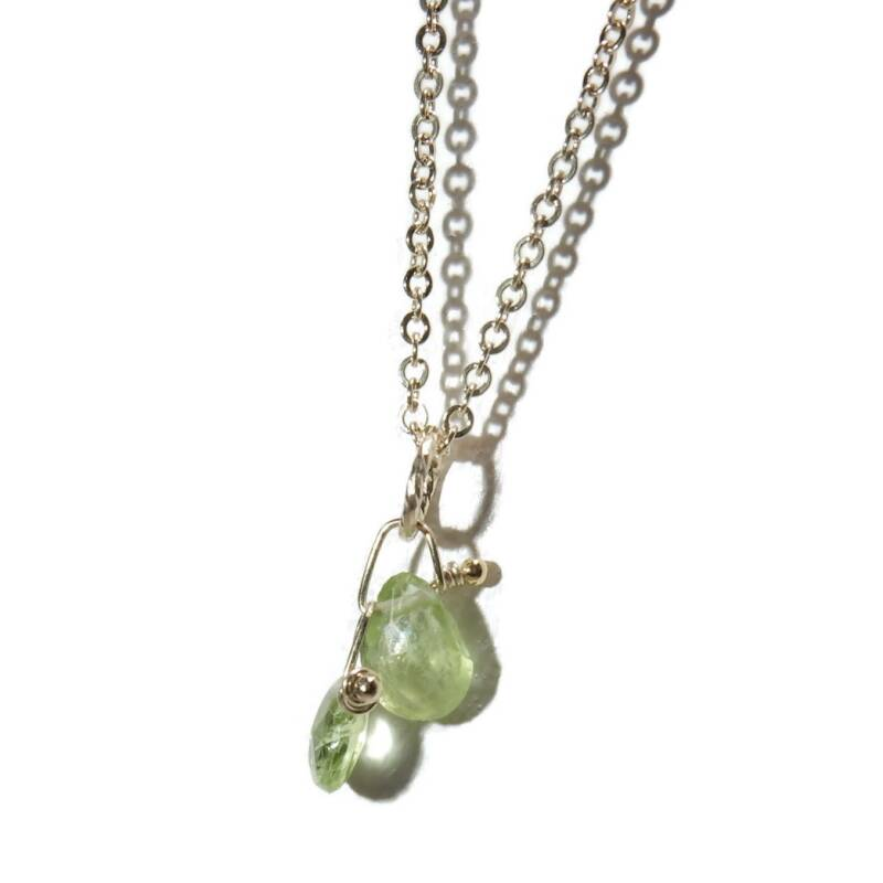 necklace double Peridot SPN1317