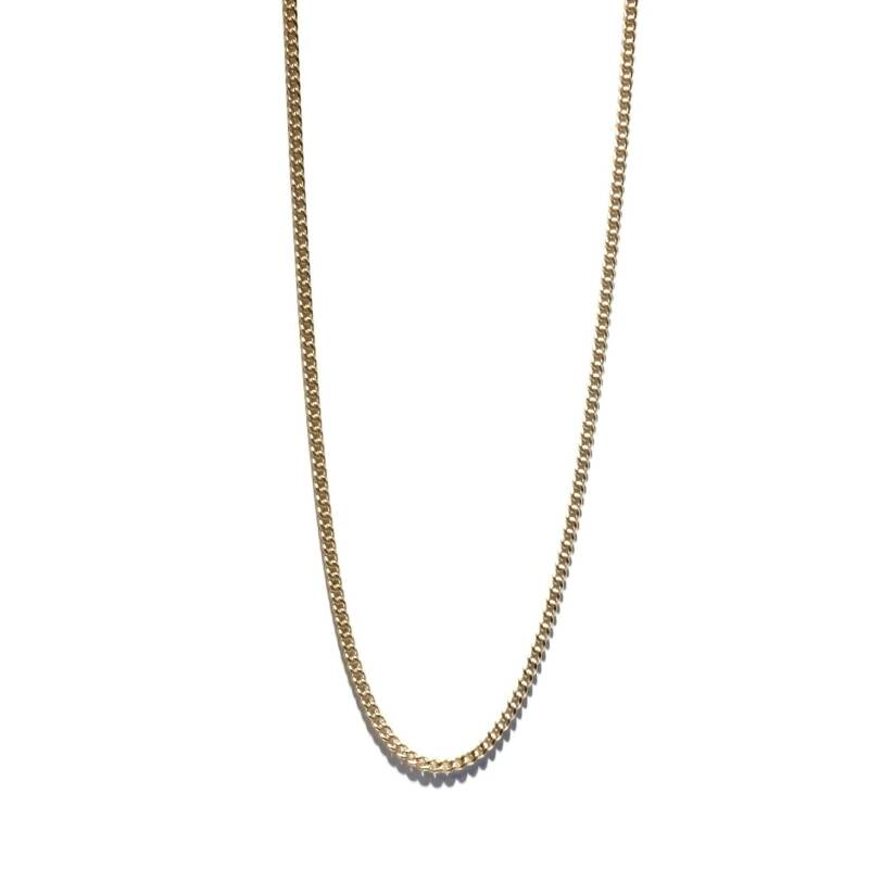 flat curb chain necklace NS1326