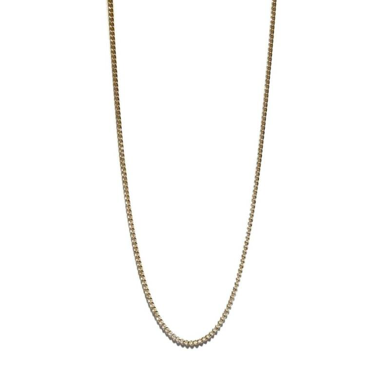 flat curb chain necklace NS1327