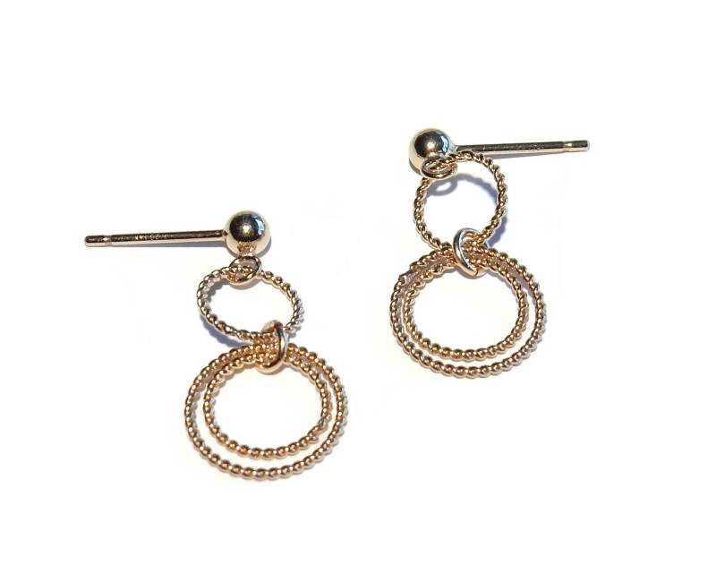 earrings triple ring EB1366