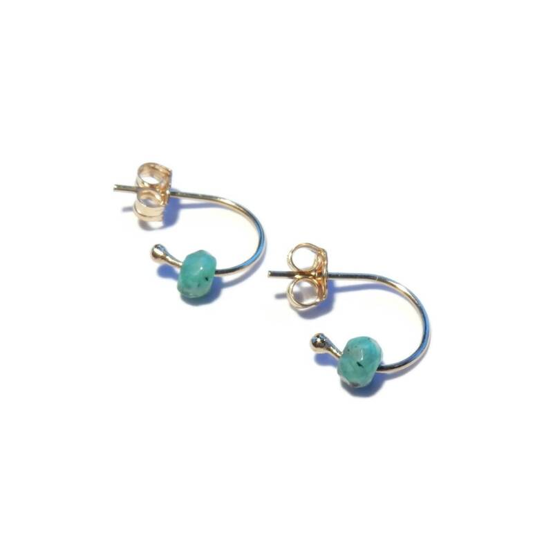 studs Moon green Agate SMO1517