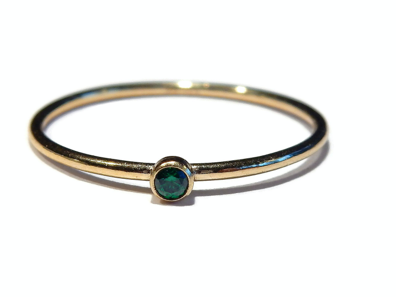 stackring 1 mm green RSG13