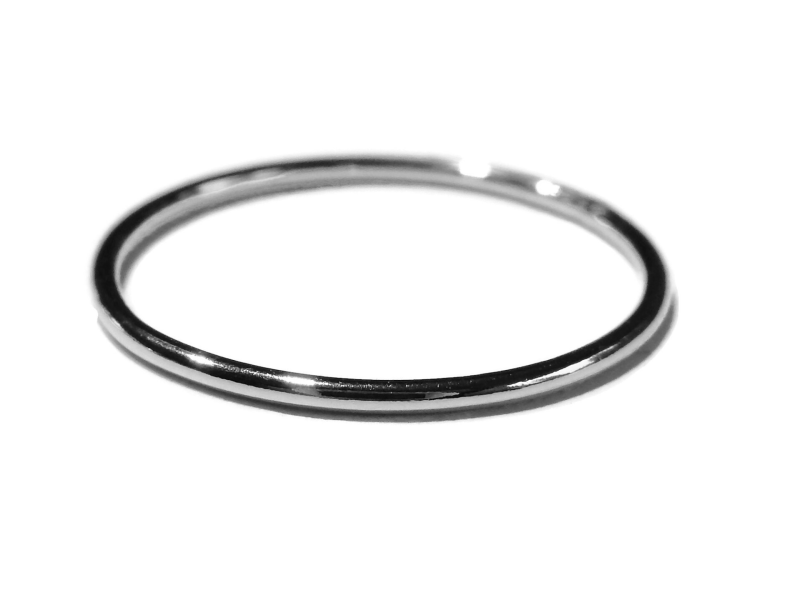stackring silver 1 mm smooth RSS1