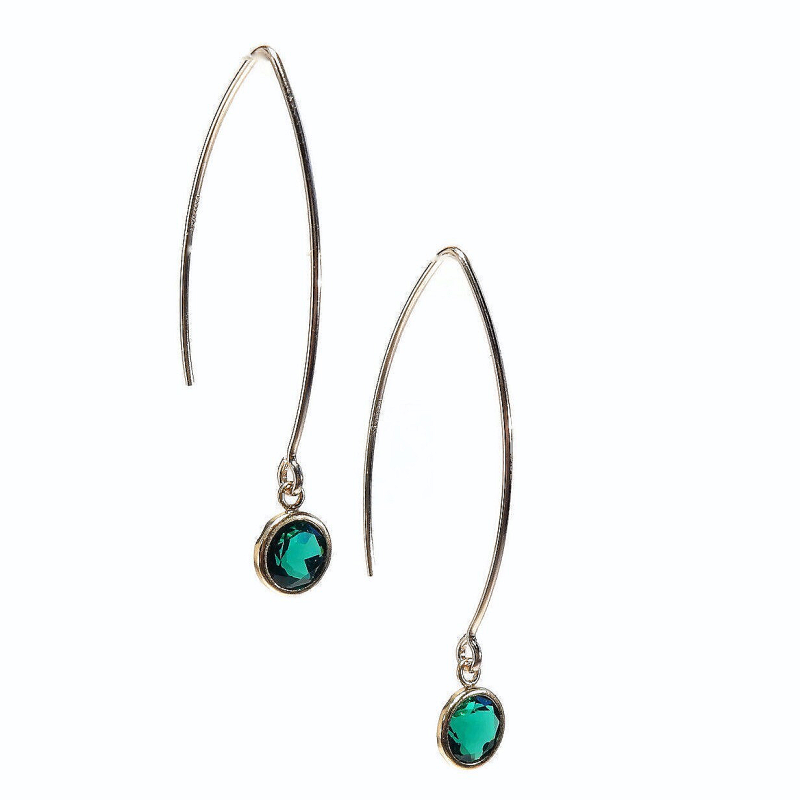 earrings Luc emerald EL1350