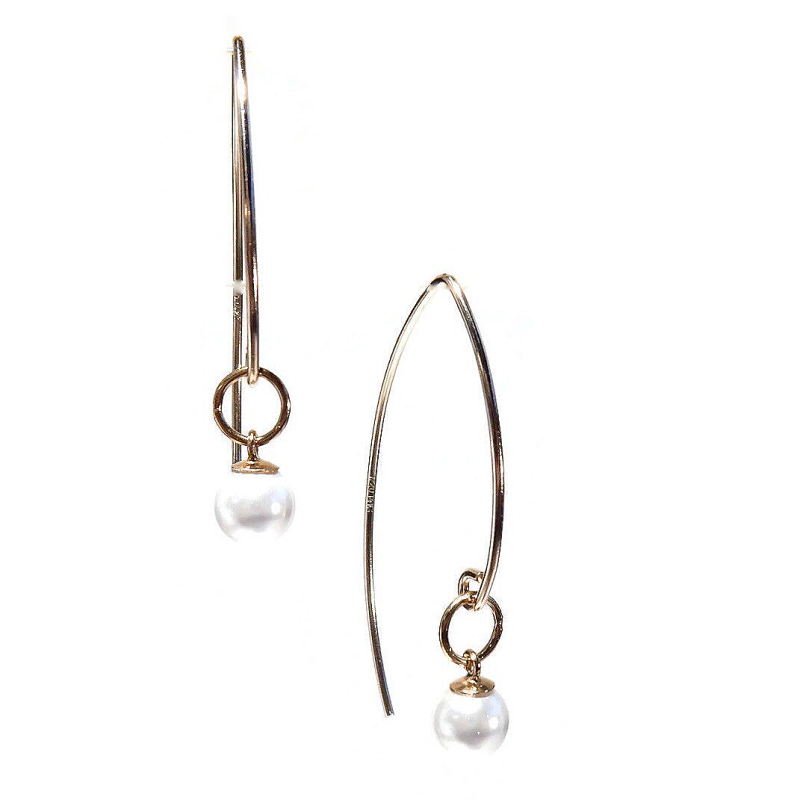earrings Luc white pearl EL1352