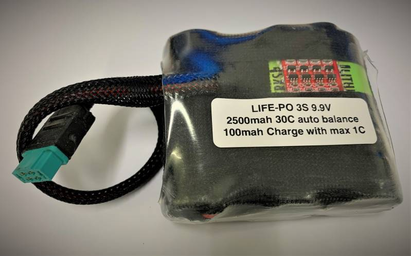 Life-Po  2500Mah 30C A-123 Lithiumwerks  9.9 Volts for Kingtech