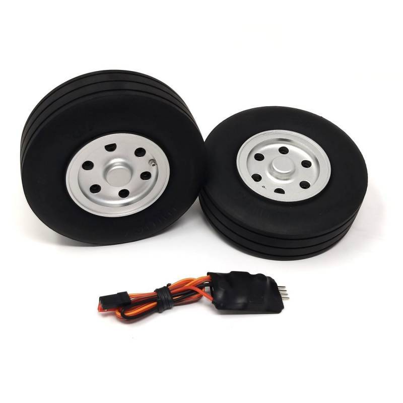 JP Hobby Electric Brake with 2x 95mm Wheels - Wide tyre 30mm (8mm axle)