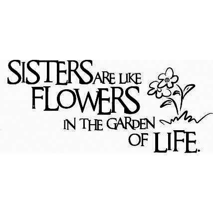 Muursticker Sisters are like flowers