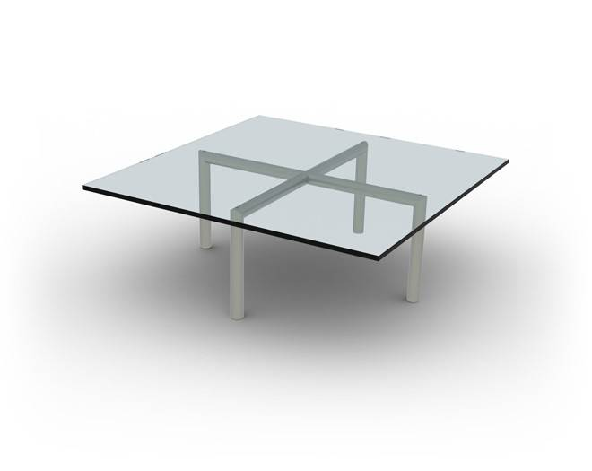 Salontafel Glas Cross Coffee Table.