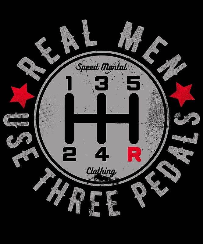 Real men 3 pedals 6x6 uv resistent