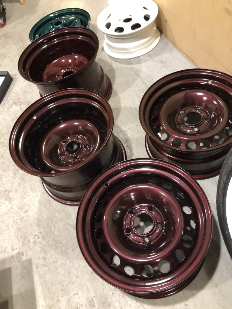 Verbreed staal set 15 inch 5x112 naaf 66,6 mm 7,5j en 10j breed.