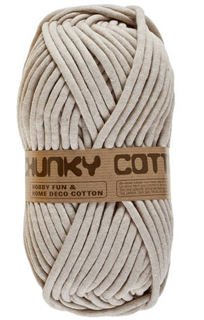 Chunky Coton 791 taupe, lichte tint