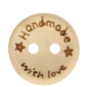 houten knoop Handmade with Love