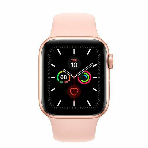 Apple Watch Series 5 Sport 40mm Gold Aluminium (Pink Silicone Strap)