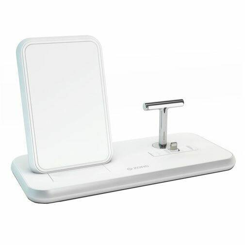 Zens Draadloze Snellader Stand 10W + AirPods Dock White