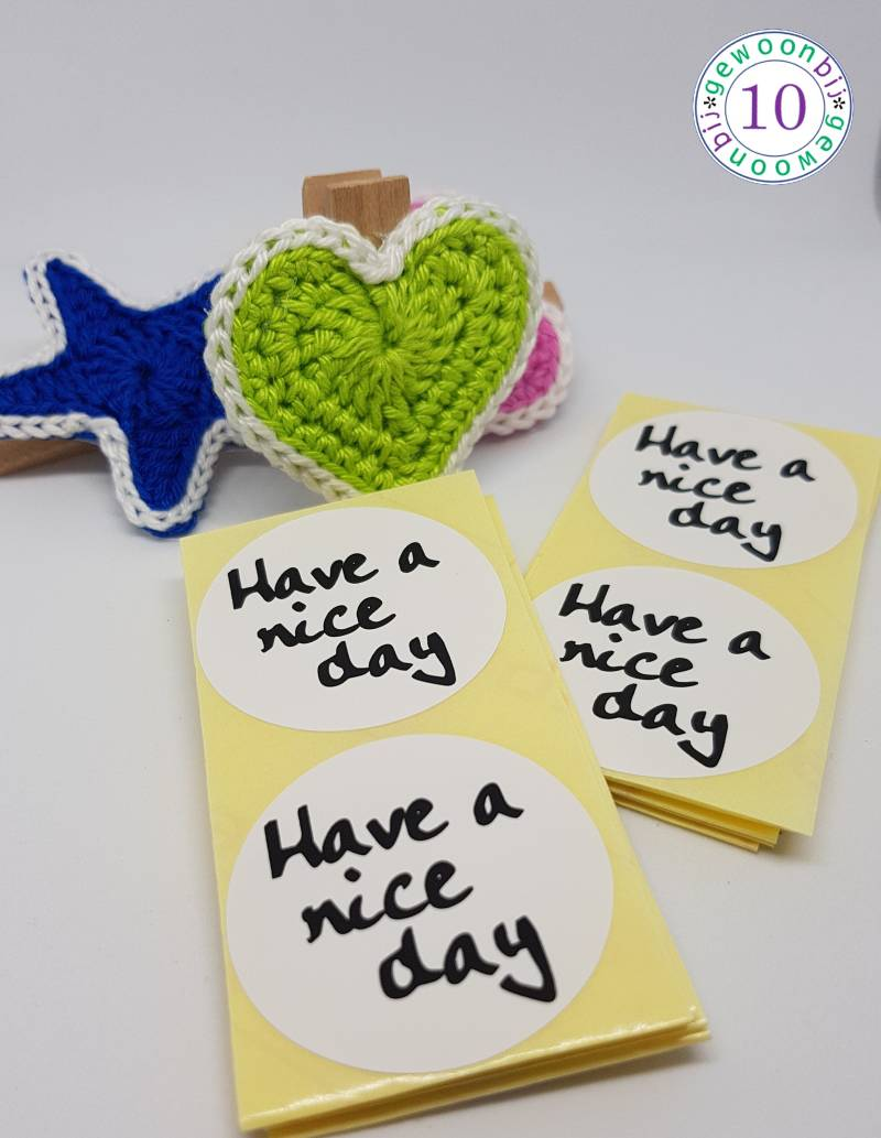 Sticker Have a nice day per 20