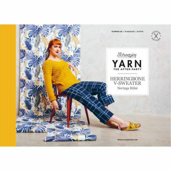 """Yarn, the after party """"Herringbone V-sweater"""""""