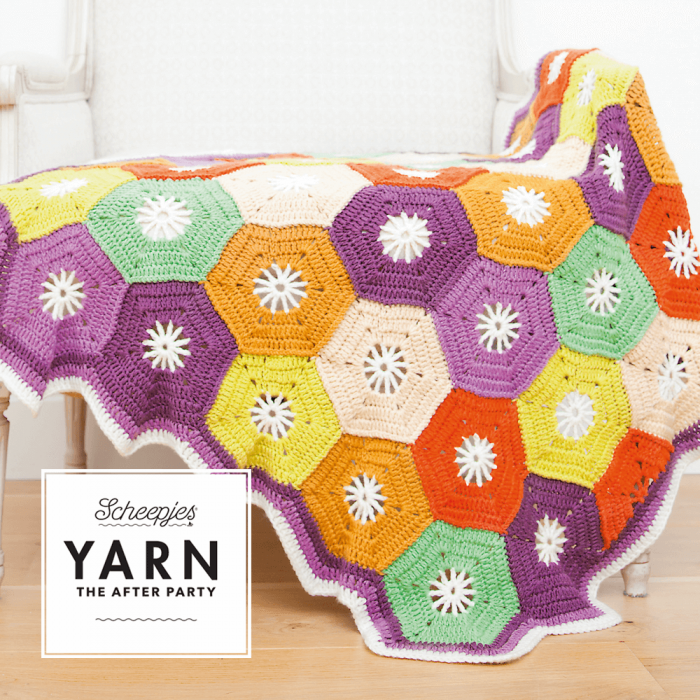 "Yarn, the after party ""Hexagon blanket"""