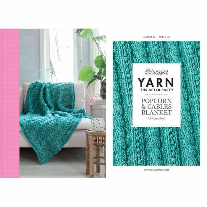 "Yarn, the after party ""Popcorn cables blanket"""