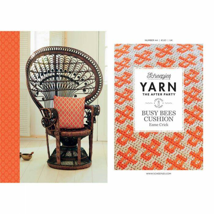 "Yarn, the after party ""Busy bees cushion"""