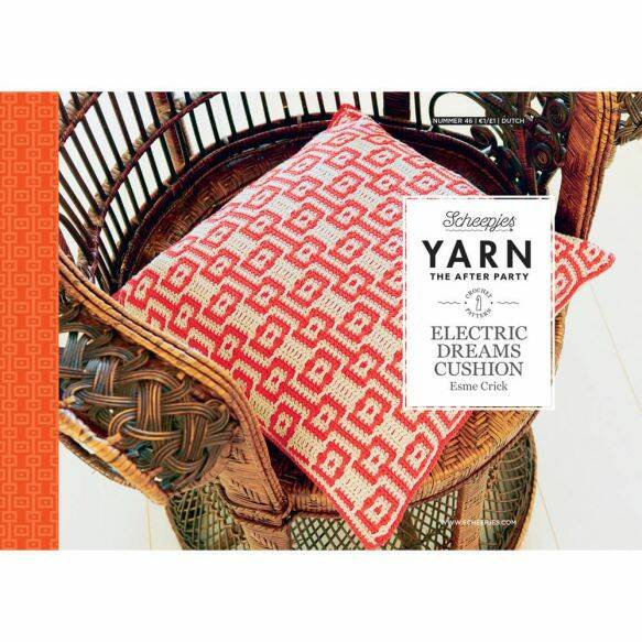 """Yarn, the after party """"Electric dreams cushion"""""""
